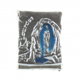 Lourdes Apparition Parchment-shaped pin badge