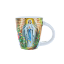 Lourdes Apparition cup and its spoon with box