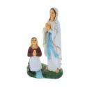 Statue Apparition de Lourdes en résine colorée 30 cm