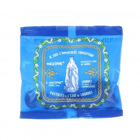 Sachet de pastilles menthe à l'eau de Lourdes  40g