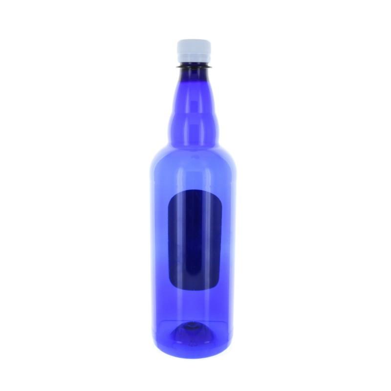 1L Lourdes water in a blue plastic bottle with Lourdes Apparition