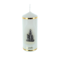 Religious candle Lourdes Apparition subjects 11 cm