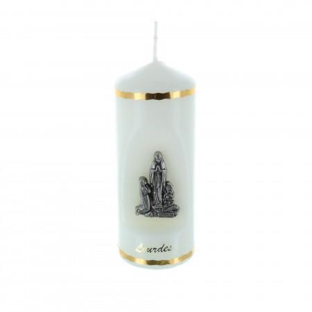 Candela religiosa soggetti Apparizione di Lourdes 11 cm