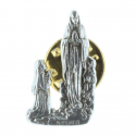 Lourdes Apparition silvery pin