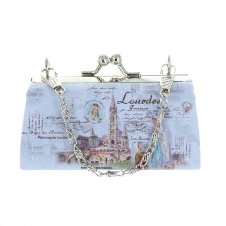 Porte monnaie fermoir rétro et Apparition de Lourdes