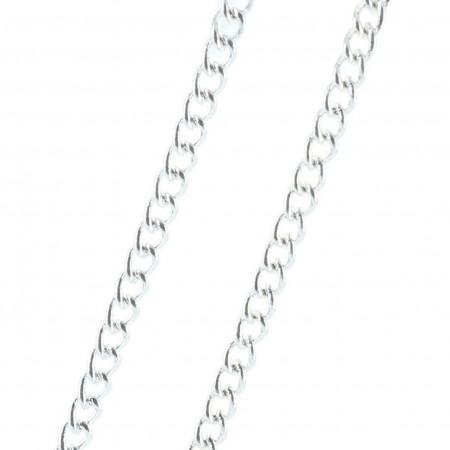Silver metal chain 45 cm
