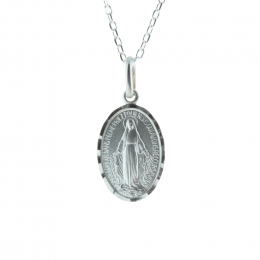 Sterling silver jewellery, Miraculous Lady chain and medallion