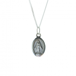 Silver jewellery Miraculous Lady chain and solid medallion