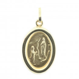 Lourdes Apparition 9-carat Gold medal, double sided 0,85g