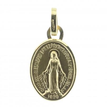 Medaglia Oro 9 carati Madonna Miracolosa