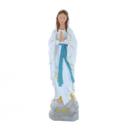 Our Lady of Lourdes sequined resin statue 50 cm