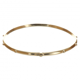 Gold-plated bracelet rosary bead