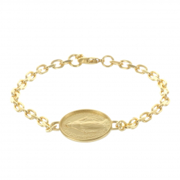 Gold-plated bracelet and Miraculous Lady medallion