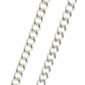 Silver metal chain 60 cm