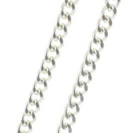 Catena metallo argentato 60 cm