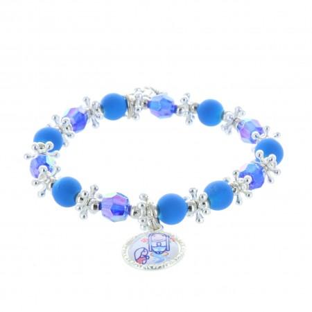 Bracelet fantaisie enfant et médailles Apparition de Lourdes, Ange et Saint Esprit