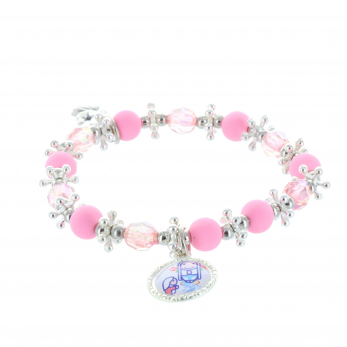 Child fancy bracelet and medals Lourdes Apparition, Angel and Holy Spirit