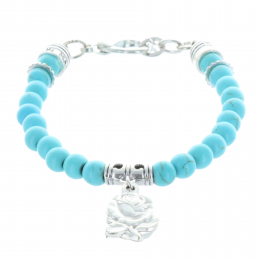 Genuine colour stone rosary bracelet