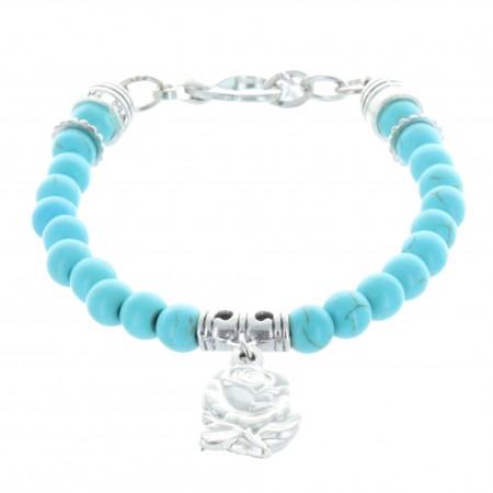 Bracelet dizainier en pierres véritables colorées