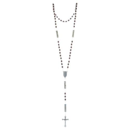 Lourdes water rosary, The 20 Rosary mysteries,wood beads