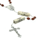 Lourdes water rosary, wood beads The 20 Rosary mysteries