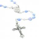 Chapelet de Lourdes en verre grains coeur et Apparition de Lourdes
