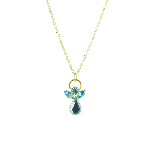 Birth fancy necklace and genuine Crystal Angel