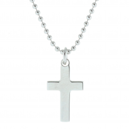 Silver jewellery chain and cross pendant