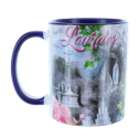 Mug Shrine of Lourdes coloured inside
