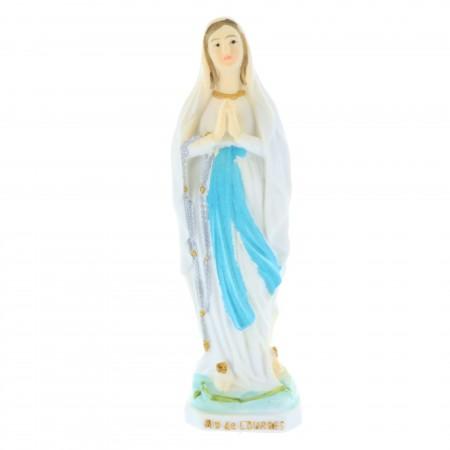 Statue Vierge Marie en résine colorée 8 cm