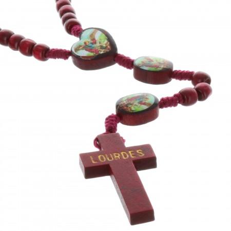 Chapelet corde et paters Saint Michel en résine