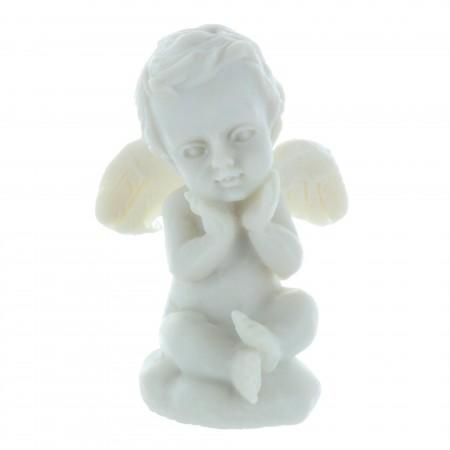 Statue Ange blanc en résine 4 cm