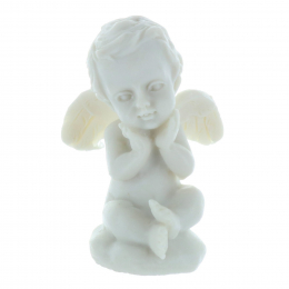 White angel resin statue 4 cm