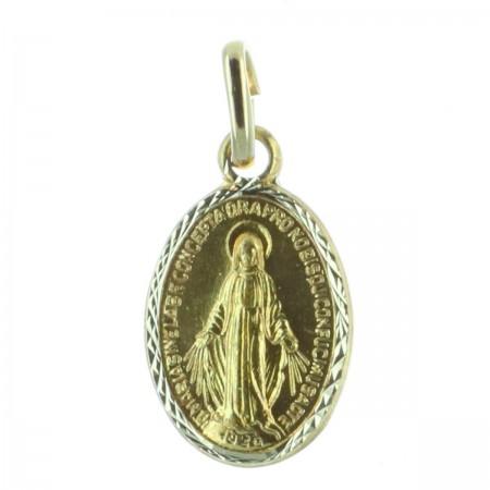 Médaille métal doré et Vierge Miraculeuse 1,5 cm