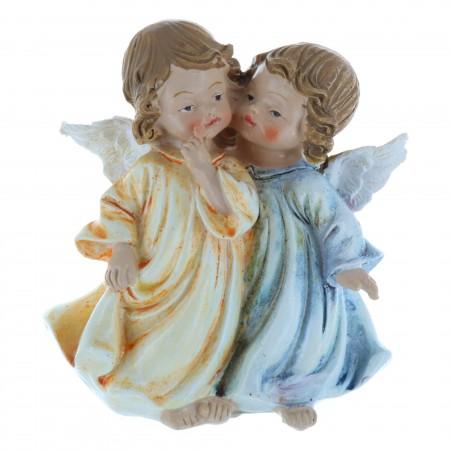 Statue Anges colorés en résine 10 cm