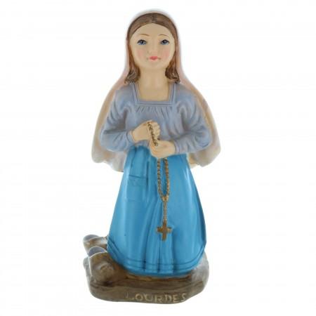 Statue Sainte Bernadette colorée en résine 12 cm