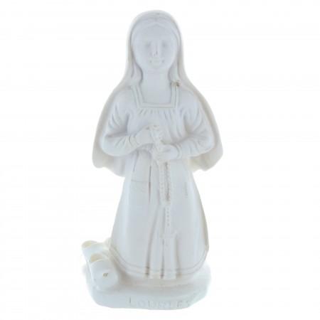 Statue Sainte Bernadette blanche en résine 12 cm