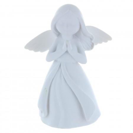 Statue Ange blanc moderne en résine 15 cm