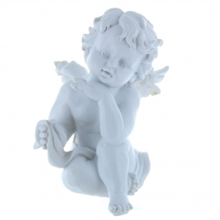Statue Ange blanc en résine 15 cm