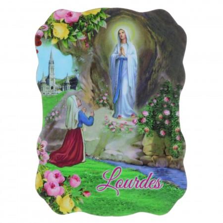 Lourdes Apparition silhouette magnet