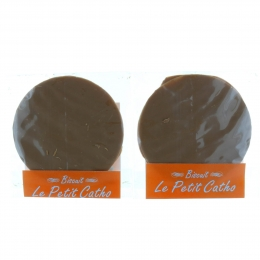 Pack of 2 chocolate altar breads made by the Convent of the Visitation of Lourdes