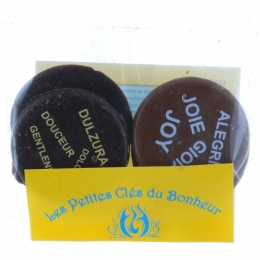 Pack of 4 fine chocolates made by the Carmelite nuns of Lourdes