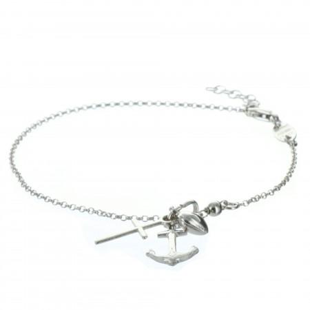 Sacred Heart of Jesus Silver Bracelet