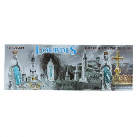 Tablette chocolat au lait 300g et image de Lourdes