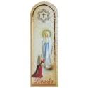 Marque page de Lourdes en cuir et image de l'Apparition de Lourdes