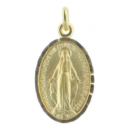 Médaille Plaqué Or 18 carats de la Vierge Miraculeuse