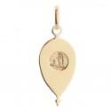 Médaille Plaqué Or 18 carats de la Vierge Marie en forme de goutte