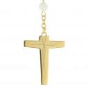 Chapelet de Lourdes nacre blanche et coeur apparition et basilique de Lourdes
