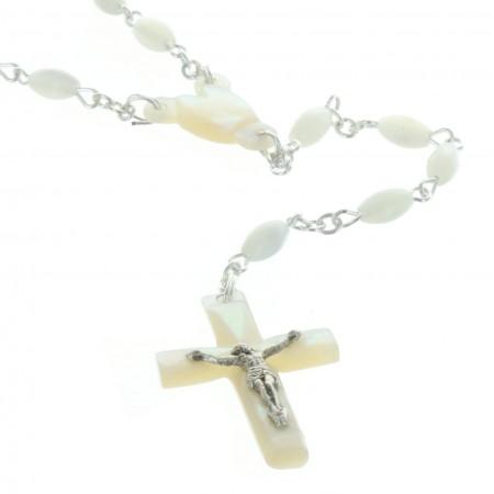 Chapelet de Lourdes en nacre véritable