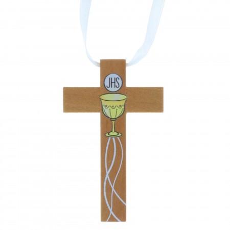 Croix d'aube de communion décorée d'un calice 9,5 cm